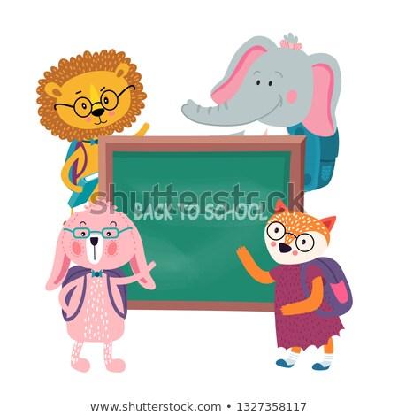 Abstrato vetor de volta à escola engraçado cartas textura Foto stock © blumer1979