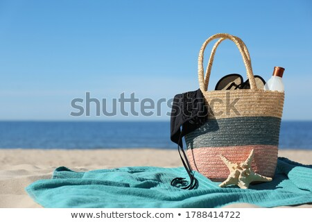 Female Accessories On The Sand At Beach Stock photo © AndreyPopov