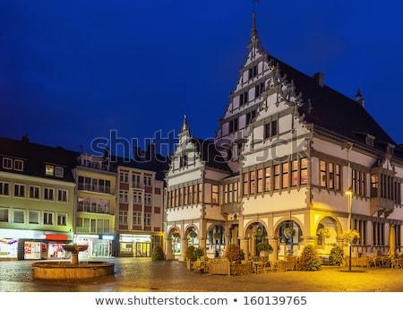 市 · ホール · 中世 · 噴水 · 家 - ストックフォト © borisb17