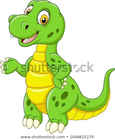 Bonitinho verde dinossauro ilustração natureza Foto stock © colematt
