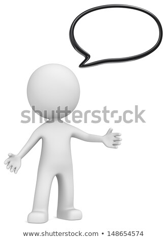 3d small people - news presenter Stock photo © AnatolyM