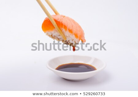 Sushi sos sojowy czarny żywności ryb restauracji Zdjęcia stock © OleksandrO