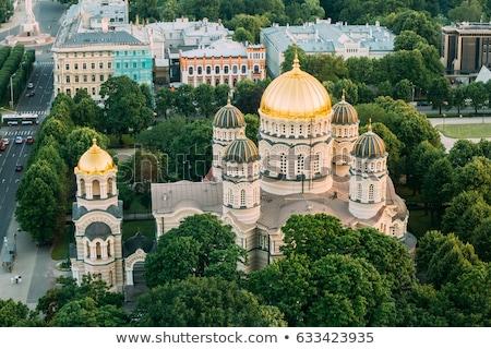 Riga katedral Letonya nehir Stok fotoğraf © borisb17