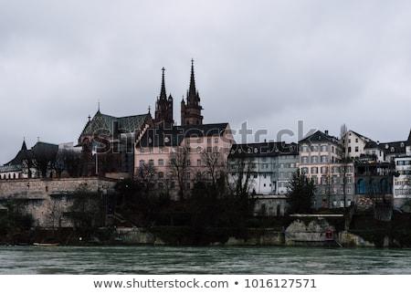 Svájc óváros város panoráma városi sziluett Stock fotó © Winner