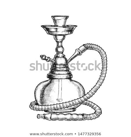 Hookah Lounge Bar Relax Equipment Vintage Vector Stock photo © pikepicture