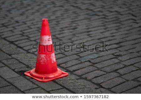 Trafic cône isolé blanche construction Photo stock © Saphira