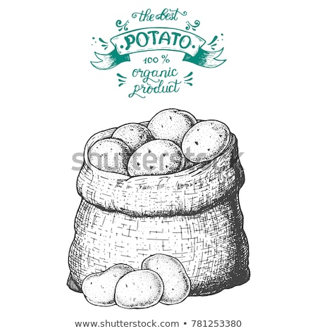 Rustic Vegetable, Pile of Potato in Sack Vector Stock photo © robuart