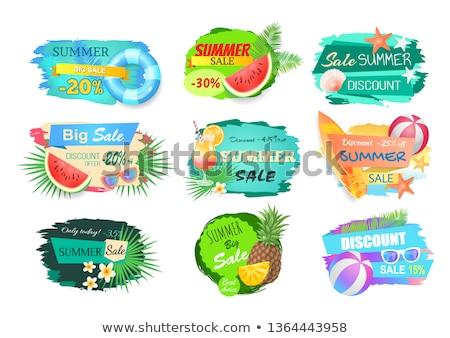 summer big sale summertime poster pineapple fruit stock photo © robuart