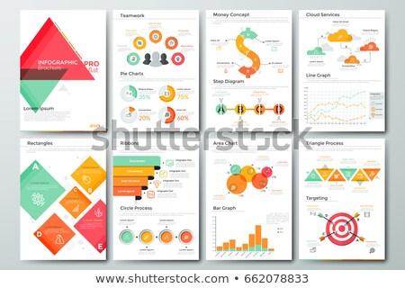 статистика данные набор вектора линия Сток-фото © robuart