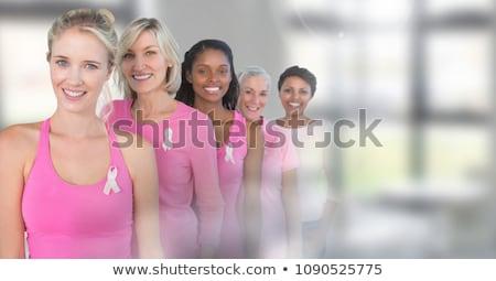 乳癌 女性 トランジション デジタル複合 手 企業 ストックフォト © wavebreak_media