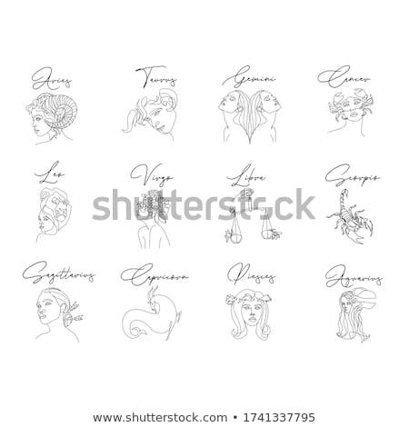 Siyah hat sanat zodyak imzalamak yalıtılmış Stok fotoğraf © cidepix