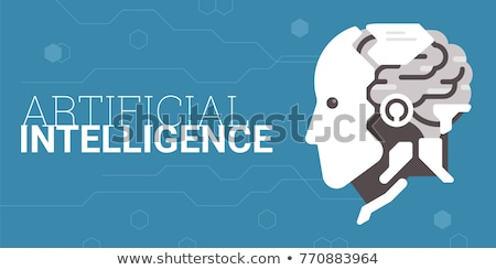 Innovation Machine Robotic Brain Color Vector Stock photo © pikepicture
