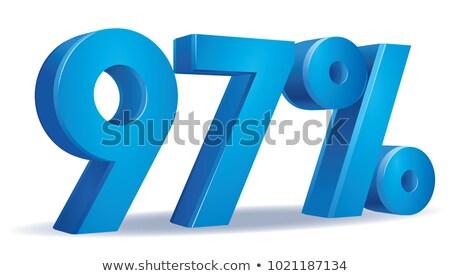 7 パーセント 白 孤立した 3D 3次元の図 ストックフォト © ISerg