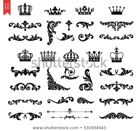 Calligraphic corners and decorative elements - vector set Stock photo © blue-pen