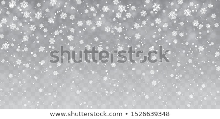 Soft Falling Snowflakes Background Stock photo © solarseven