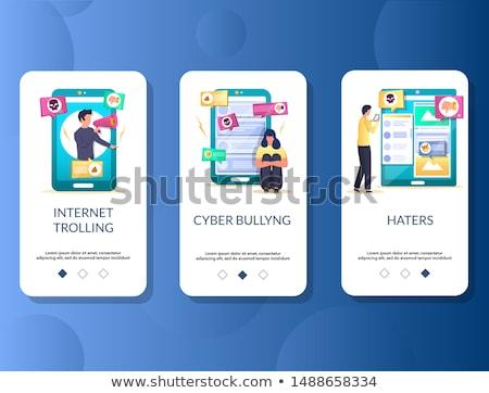 App interfész sablon okostelefon zaklatott áldozat Stock fotó © RAStudio