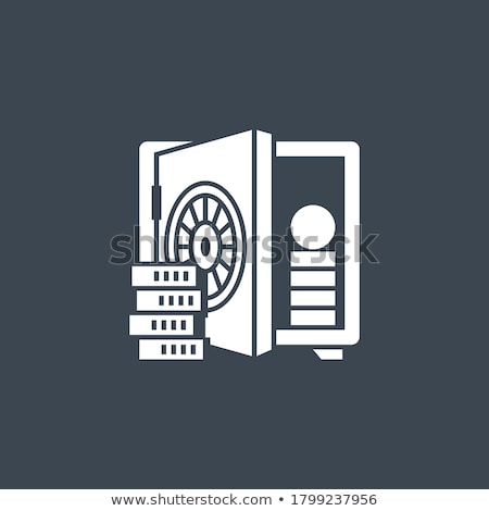 Deposit Account related vector glyph icon. Stock photo © smoki