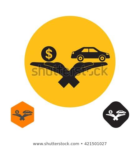 レンタル · 車 · 購入 · アイコン · 手 - ストックフォト © -talex-