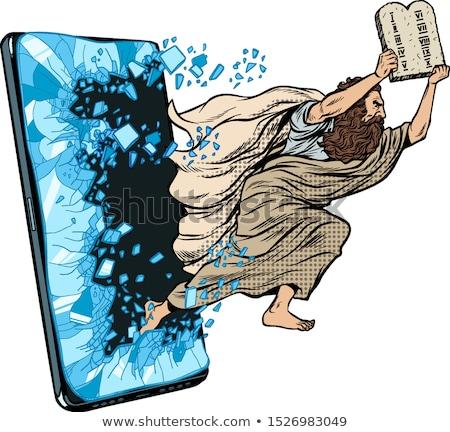 пророк христианской онлайн Новости телефон Сток-фото © studiostoks