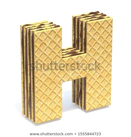 フォント チョコレート クリーム 充填 3D ストックフォト © djmilic