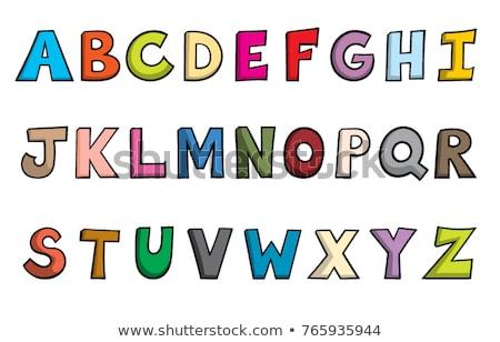 écrire · lettre · m · classeur · enfants · cartoon · illustration - photo stock © izakowski