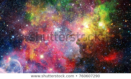 Colorful space nebula with stars. Elements of this image furnished by NASA. Stock photo © NASA_images