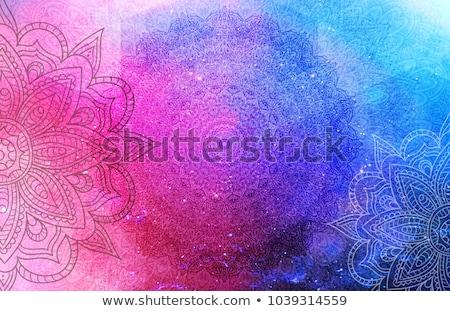 Mandala minták lila illusztráció keret jóga Stock fotó © bluering