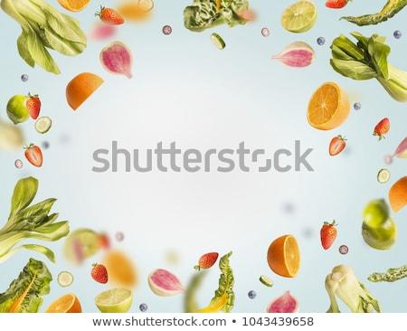 Sağlıklı gıda karışık meyve sebze meyve suyu Stok fotoğraf © dash