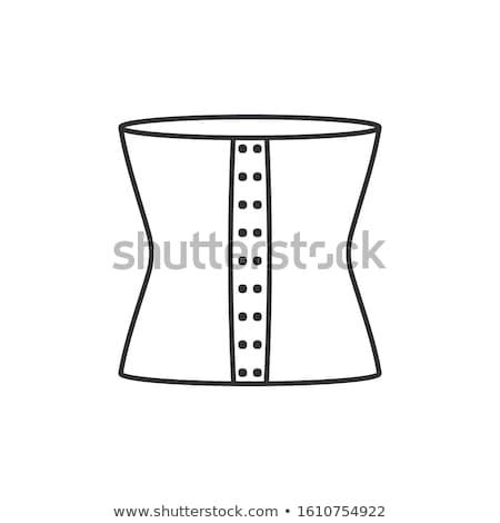 Korset ondergoed icon vector schets illustratie Stockfoto © pikepicture