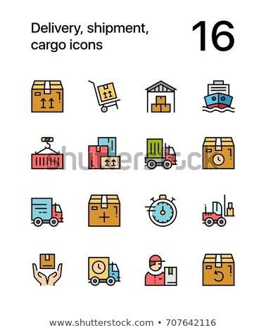 Színes házhozszállítás szállítmány teher ikonok háló Stock fotó © karetniy