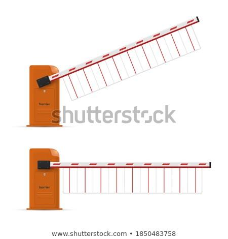 Gesloten automatisch auto witte geïsoleerd 3d illustration Stockfoto © ISerg
