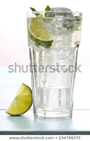 Cam taze su limonata nane Stok fotoğraf © DenisMArt