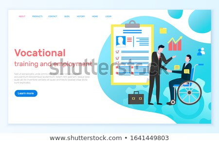 Vocational Training and Employment Website Page Stock photo © robuart