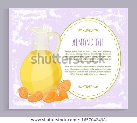Amandel noten haren olie glas briefkaart Stockfoto © robuart