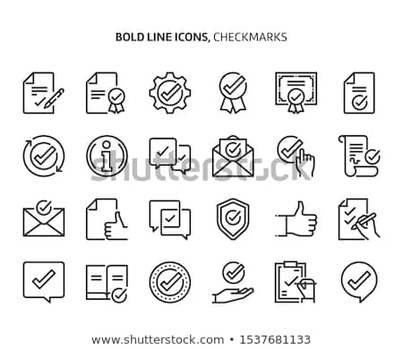 Document bevestiging icon vector schets illustratie Stockfoto © pikepicture
