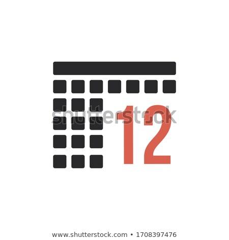 месяц 12 декабрь календаря организатор икона Сток-фото © kyryloff