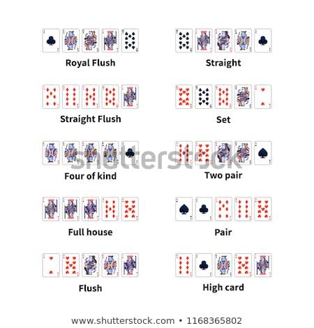Nagy szett összes póker kártyák kombináció Stock fotó © evgeny89