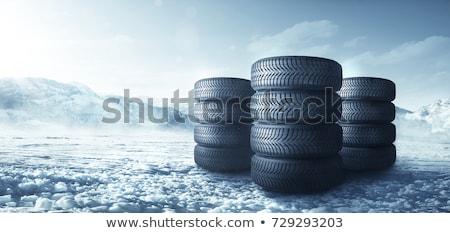 Car winter tire isolated Stock photo © dmitry_rukhlenko