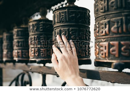 Buddhist prayer wheels Stock photo © dmitry_rukhlenko