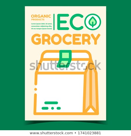Eco Grocery Promotional Brochure Poster Vector Stock photo © pikepicture