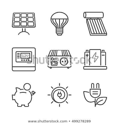 Ecology & Renewable Energy Icons // Basics Stock photo © Palsur