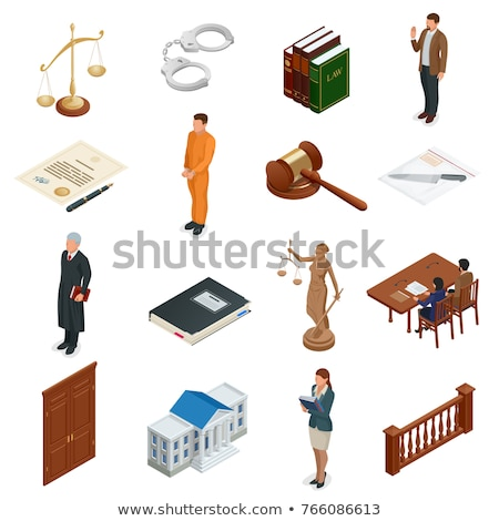 Courthouse Law And Judgement isometric icon vector illustration Stock photo © pikepicture