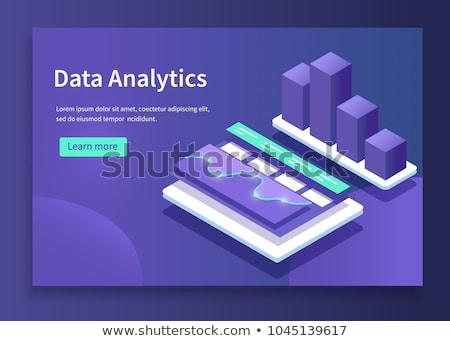 Data use in business webpage template. Stock photo © RAStudio