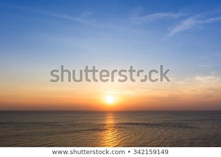 güneş · bulutlar · parlak · stilize · mavi - stok fotoğraf © sahua