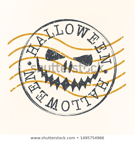 Halloween postal stamps Stock photo © kariiika