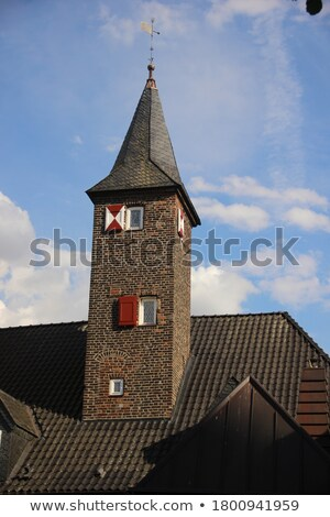 Stock photo: thin church spire