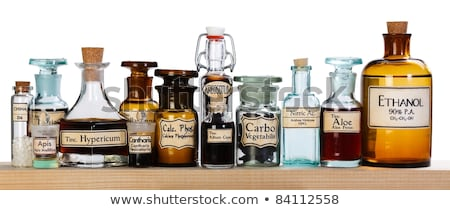 Stock photo: Various mother tinctures of homeopathic medicine
