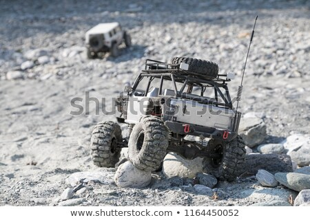 おもちゃ 車 石 地形 海 男 ストックフォト © dsmsoft