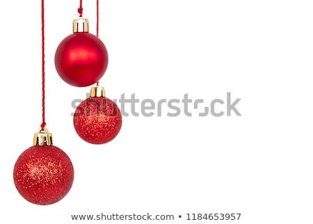 ピンクリボン 赤 クリスマス ボール ショット ストックフォト © borna_mir