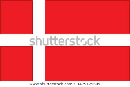 Stok fotoğraf: Danimarka · bayrak · 3d · render · yansıma